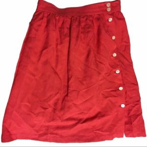 LOFT coral side button skirt